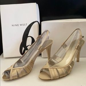 Gold Satin Heel